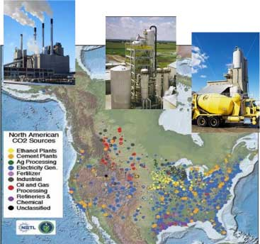 North American Sources of CO2